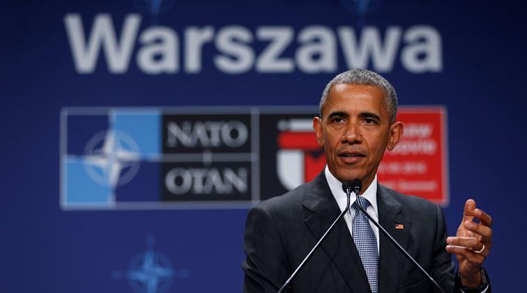 U.S. President Barack Obama holds a news conference after participating in the NATO Summit in Warsaw, Poland, July 9, 2016. REUTERS/Jonathan Ernst