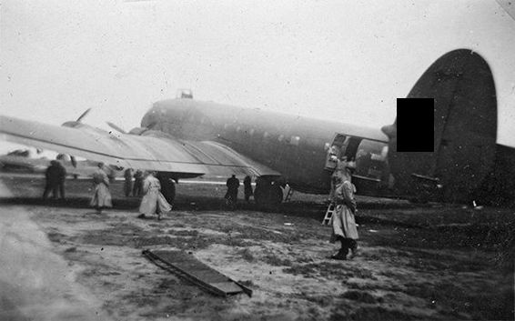 The Junkers Ju 90 transport aircraft that took the Neff collection group to Belgrade on 1 May 1944.